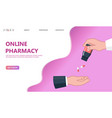 doctor giving pills patient concept vector image