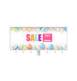 easter sale billboard with design handwritten vector image vector image