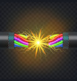 electric break cable electrical circuit vector image vector image