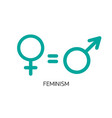 equality between men and women concept vector image vector image