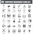 Finance black icons set Dark grey symbols vector image vector image