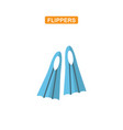 flippers flat icon vector image vector image