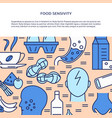 food sensivity banner template in colored line vector image vector image