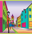 funky journey pedestrian street in european city vector image