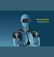 futuristic artificial intelligence robot style vector image vector image