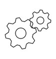 gears machine isolated icon vector image vector image