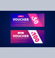 gift vouchers with modern gradient style vector image