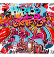 Graffiti wall urban background seamless vector image vector image