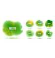 green hand drawn watercolor background set vector image