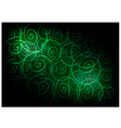 Green Vintage Wallpaper with Spiral Pattern