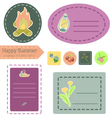Happy Summer Camp sticker set vector image