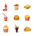 Junk Food Items Set vector image vector image
