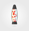 lava lamp icon with shadow vector image vector image