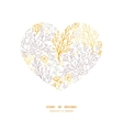 magical floral heart silhouette pattern vector image vector image