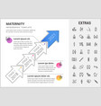 maternity infographic template elements and icons vector image