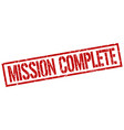 mission complete stamp vector image vector image