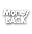 Money back sign vector image