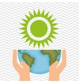 planet and sun isolated icon design vector image