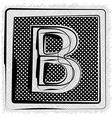 Polka Dot Font LETTER B vector image vector image