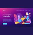 professional development teachers concept vector image vector image