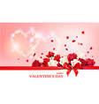 red roses banner vector image vector image