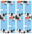 Seamless Cow and Milk Pattern Animal vector image vector image