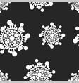 seamless virus pattern cartoon black vector image vector image
