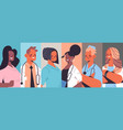 set mix race doctors avatars men women medical vector image vector image