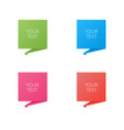 set of colorful pointers vector image vector image