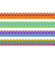 set of enamel seamless borders vector image
