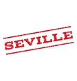 Seville Watermark Stamp vector image vector image