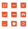 shed icons set grunge style vector image