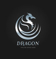 silver dragon tribal logo sign symbol icon vector image vector image