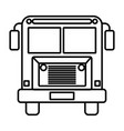 sketch silhouette image front view school bus with vector image vector image
