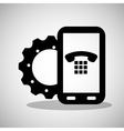 smartphone gear technology communication telephone vector image