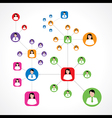 Social network concept with male and female vector image