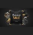 summer sale poster on black background vector image vector image