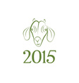 symbol goat 2015 year vector image