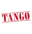 tango red grunge vintage stamp isolated on white vector image vector image