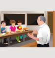 teacher teaching college student vector image vector image