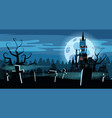 template halloween holiday graveyard black vector image vector image