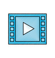 video play button digital movie film vector image vector image
