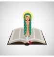 virgin mary guadalupe blessed bible design vector image vector image