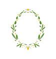 wedding floral invitation design vector image