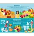 Weight loose diet flat banners set vector image