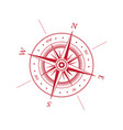 wind rose symbol vector image vector image