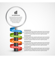 Abstract infographics design template with vector image