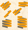Collection of the grunge ribbons vector image