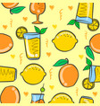 art drink fresh pattern vector image