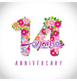 14 flowers colorful logo
